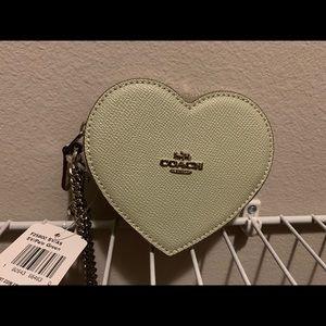 NWT Coach Heart Keychain / Coin Purse